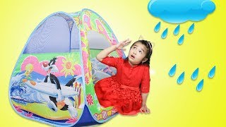 Hana Pretend Playing with Baby Doll Toy - Rain Rain Go Away Nursery Rhyme Song