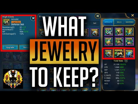RAID: Shadow Legends | What gear to keep? Jewelry / Jewellery guide! Best way to grind silver!