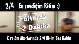"""Gitarda 2 Dakika-  C ve Am Akor Üzerinden """"Fingerstyle"""""""