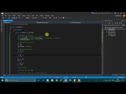 Tutoriale Video C# - despre operatori, expresii si instructiuni -5-