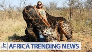 Africans Outraged After White American Hunter Kills Rare Giraffe