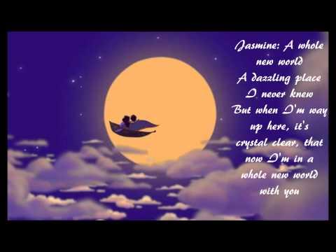 A Whole New World By Brad Kane And Lea Salonga W Lyrics From Disneys Aladdin Chords