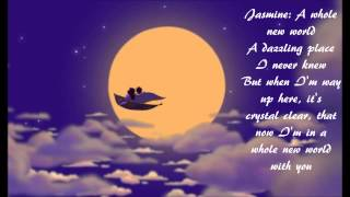 "A Whole New World by Brad Kane and Lea Salonga (w/ lyrics) From Disney's ""Aladdin"""