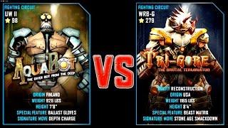 REAL STEEL WRB FINAL Aquabot (98) VS TRI GORE (Champion)(279) New Robots UPDATE (Живая Сталь)
