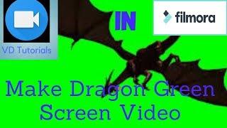 || Make Dragon Fire Green Screen Effect In Filmora || By VD Tutorials