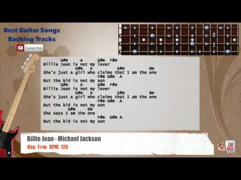 Billie Jean - Michael Jackson Bass Backing Track with scale, chords ...