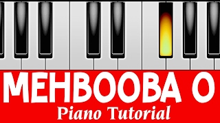 Mehbooba Mehbooba I Sholay I Perfect Piano Tutorial | Mobile Piano Songs Notes | App instrumental