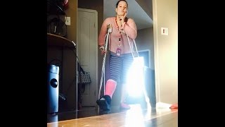 broke bones and pretty pink cast vlog#.1