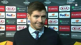 """I'm blown away!"" Beaming Steven Gerrard proud of his Rangers players"