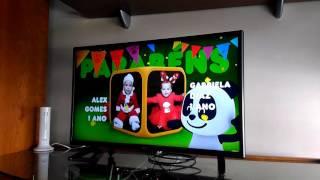 Amanda y Alex en la tv Parabens canal Panda