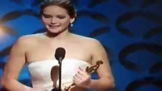 Cute Jennifer Lawrence Speech @ Best Actress In Leading Role @ Oscars 2013