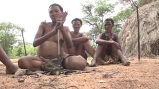 Africa - San People (Bushmen) Village Life