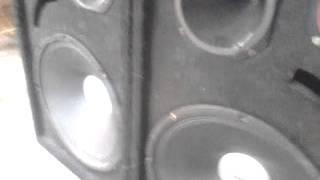 CAIXA COM FALANTE DE 15 WP3 TOCANDO   DESIRELESS   VOYAGE VOYAGE