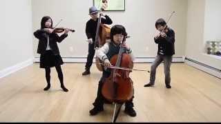 Smooth Criminal de  Michael Jackson Tocado en violonchelo por cuatro Niños