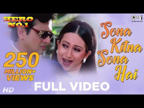 Download Lagu Sona Kitna Sona Hai Song Video - Hero No. 1 | Govinda & Karisma Kapoor | Udit N & Poornima