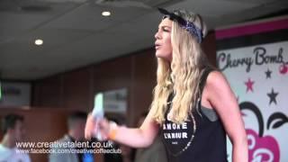 X Factor Louisa Johnson Performing at Soccer Six May 17th 2015 - Burnley Football Club