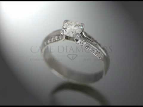 Simple side stone ring,round diamond,small round diamonds on side,platinum,engagement ring