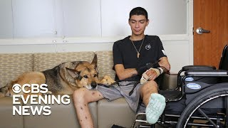 Soldier and his military dog travel the road to recovery together