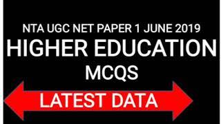 NTA UGC NET PAPER 1 IMPORTANT QUESTIONS