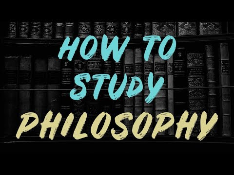 How to Study Philosophy