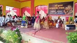 Bhurhar dist Shahdol mp school ki Krishan Janmashtami program ka dance