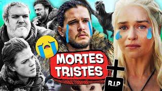 10 MORTES mais TRISTES de GAME OF THRONES! ☠️⚰️
