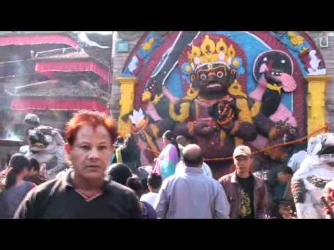 20091024093232 เทพเจ้าของเนปาล Kal Bhairav Kathmandu Nepal