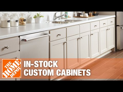 a kitchen featuring stock cabinets