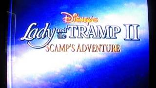 Lady and the Tramp II:Scamp's Adventure Trailer