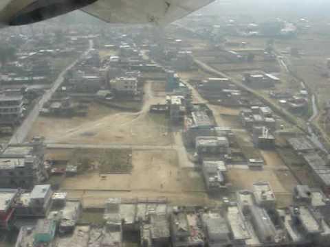 Landing at Pokhara Airport