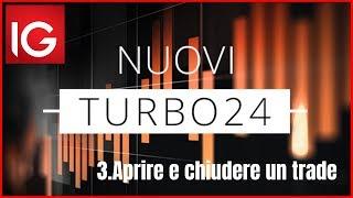 Aprire e chiudere una posizione sui Turbo24 con IG