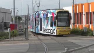 Adelaide Metro Trams running in to Glengowrie Depot November 2015