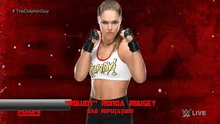 #WWE: Ronda Rousey 1st Theme - Bad Reputation (HQ + Arena Effects)