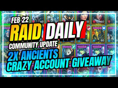 2x ANCIENTS is Live! | INSANE Account Giveaway! | RAID Shadow Legends
