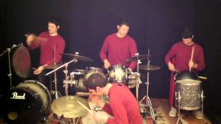 Drum Solo 4 Drummers! Instrumental Afro Drums Music