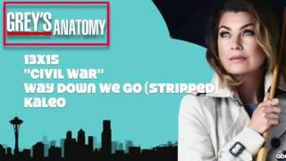 """Grey's Anatomy Soundtrack - """"Way Down We Go (Stripped)"""" by Kaleo (13x15)"""