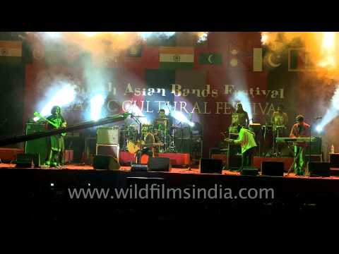E-SA & His Troupe from Maldives, participated in South Asian Rock Band 2012