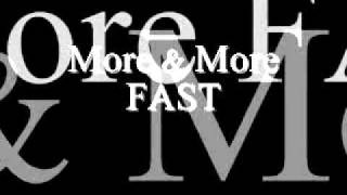 Joe More & More Fast