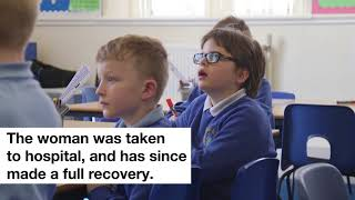 Stephen saved a woman's life after learning first aid in school