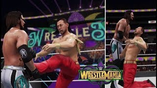 WWE 2K18 SIMULATION: AJ STYLES VS SHINSUKE NAKAMURA | WRESTLEMANIA 34 HIGHLIGHTS