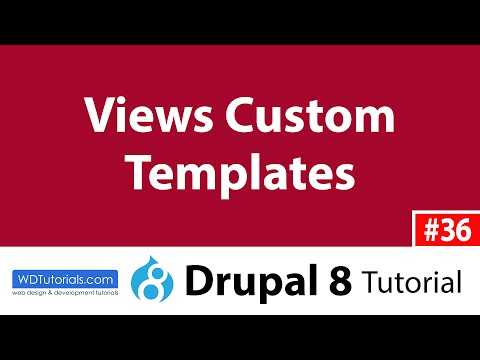 Custom Template For A View (Drupal 8 Tutorial #36)