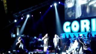 Gorillaz - Feel Good Inc. Live feat. De La Soul @ Gibson Amphitheatre 2010