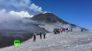 Etna eruption: Stunning scenes from Europe's tallest volcano