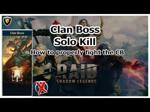 RAID Shadow Legends - Clan Boss Solo Kill / Walkthrough