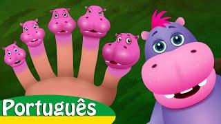Canção da Família dos Dedos Hipopótamo | Canções Infantis em Português | ChuChu TV