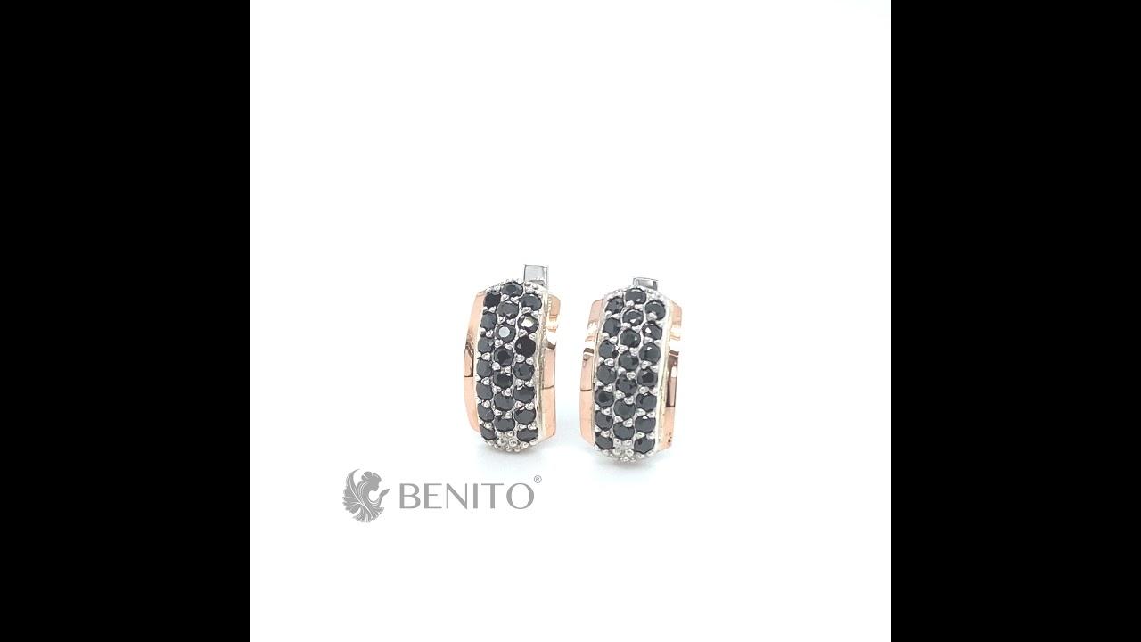 Viridiana Earrings Black Zircon Stones