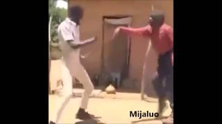 Funny people dancing to Y-Tjukutja