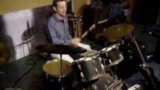 Drummen in de oefenruimte