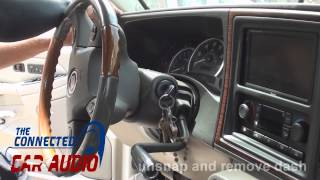 how to remove factory stereo Cadillac Escalade 2003 2004 2005 2006