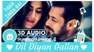 Dil Diyan Gallan - Atif Aslam | Extra 3D Audio | Surround Sound | Use Headphones 👾 width=